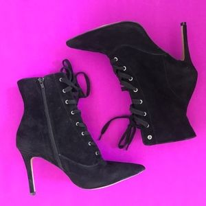 steve madden jinx black suede ankle boots new